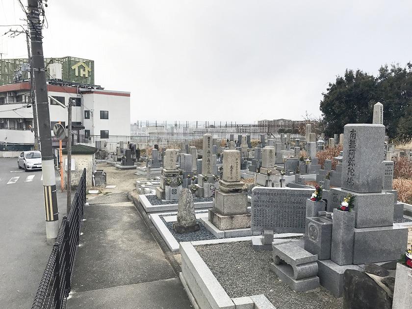 枚方市にあるお墓、北中振共同墓地