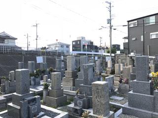 豊中市長島墓地風景