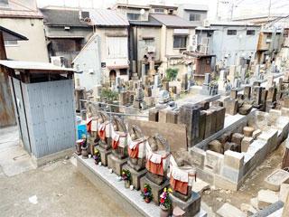 大阪の京橋にある蒲生墓地